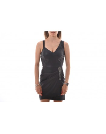 PINKO - Ecoleather Dress SLITTARE - Black