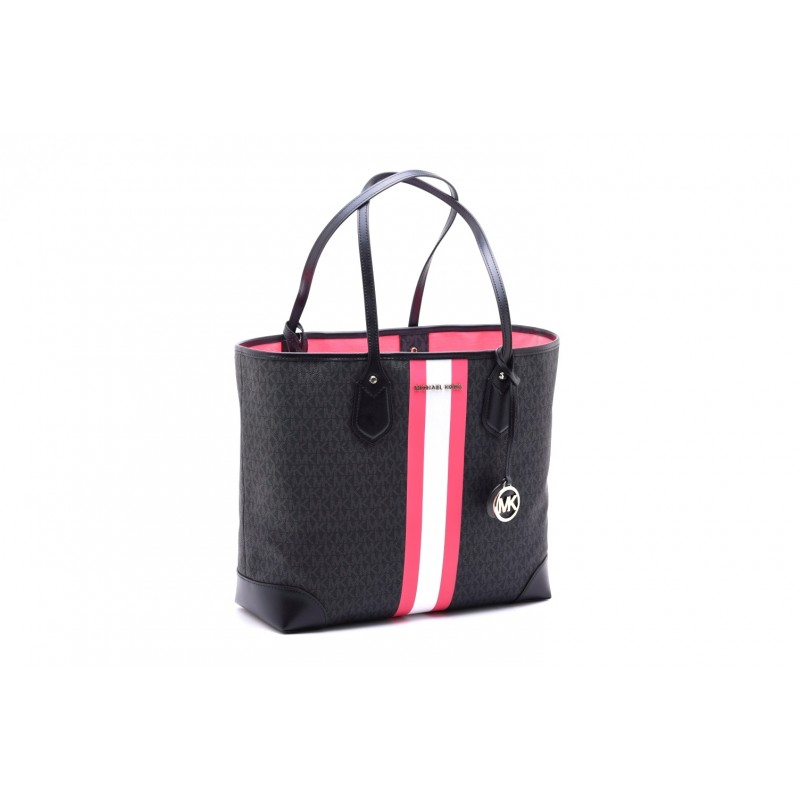MICHAEL by MICHAEL KORS - Shopping Bag EVA - Black/Neon Pink