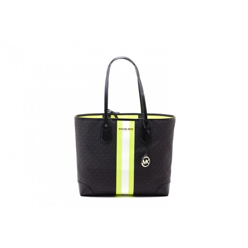 MICHAEL by MICHAEL KORS - Shopping Bag EVA - Black/Neon Yellow