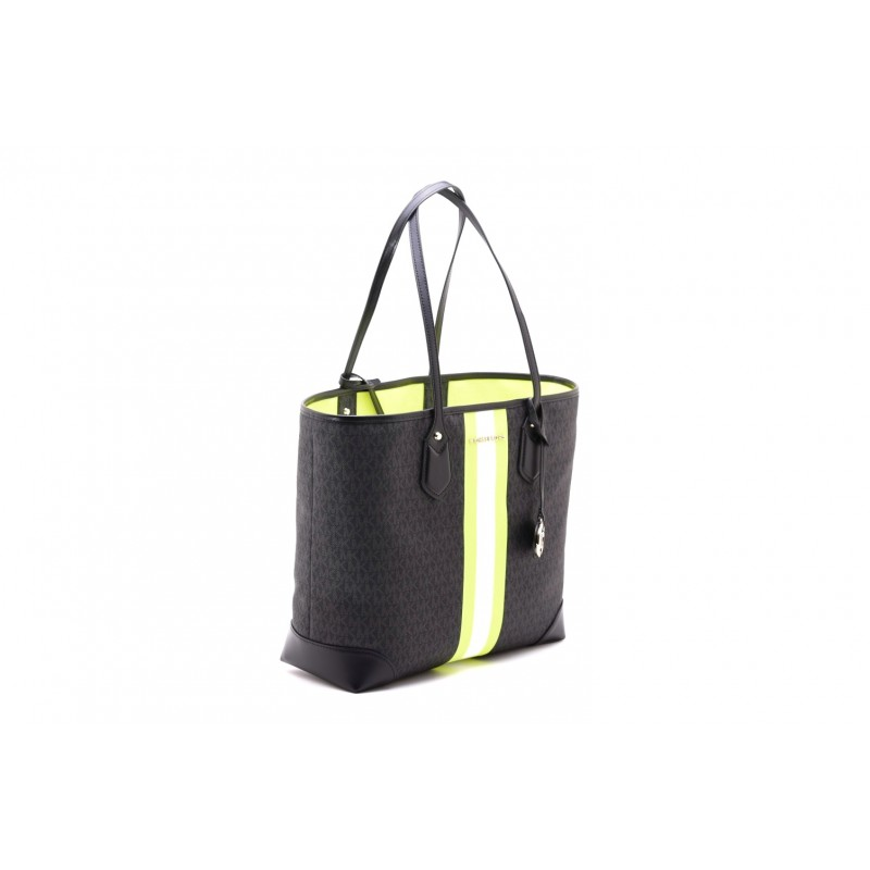 MICHAEL by MICHAEL KORS -Borsa Shopping EVA - Nero/Neon Yellow