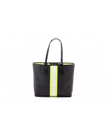 MICHAEL by MICHAEL KORS -Borsa Shopping EVA - Nero/Neon Yellow