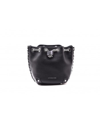 MICHAEL by MICHAEL KORS - Borsa ALANIS DUCKET con Catena Metallica - Nero