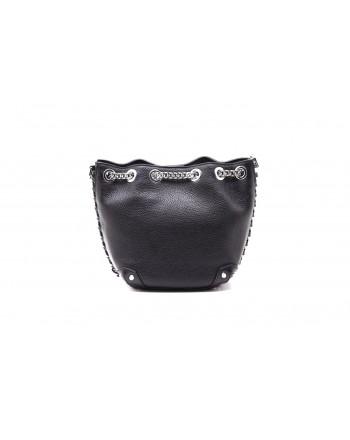 MICHAEL by MICHAEL KORS - ALANIS DUCKET Bag with Metallic Chain - Black