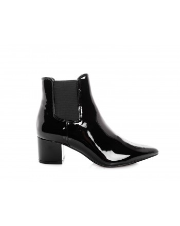 MADDEN GIRL - Painted Leather Booties - Black