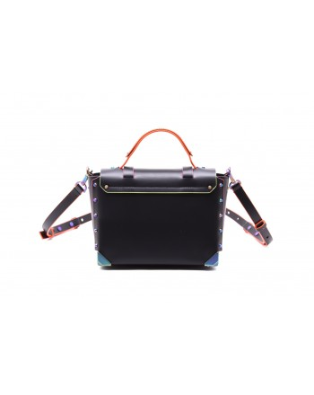 MICHAEL by MICHAEL KORS - MANHATTAN Leather Bag - Black/Iridescent