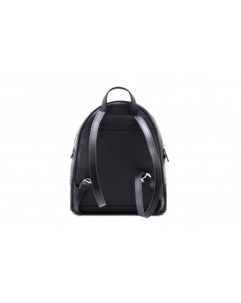 MICHAEL by MICHAEL KORS - RHEA Backpack with Silver Details  - Black