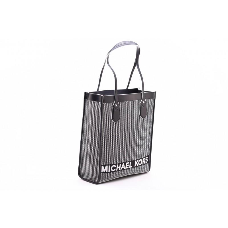 MICHAEL by MICHAEL KORS - Borsa a Spalla BAY LG - Nero/Bianco