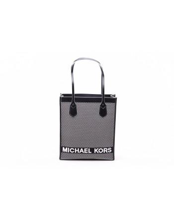 MICHAEL by MICHAEL KORS - BAY LG Shoulder  Bag  - Black/White