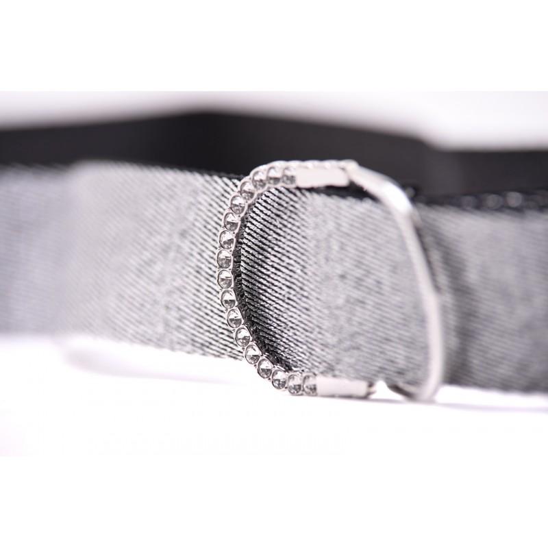 PINK - FOREST belt in lurex - Silver