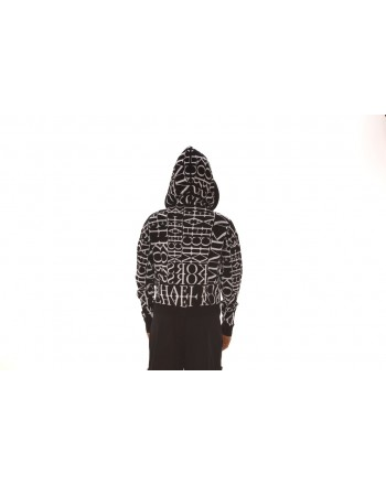 MICHAEL by MICHAEL KORS - Hood Sweatshirt Logo Printed - Black/White