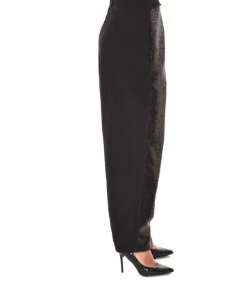 PHILOSOPHY di LORENZO SERAFINI - Paillettes Trousers - Black