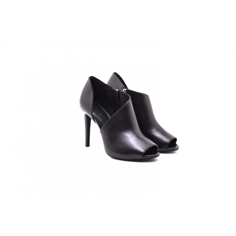 MICHAEL By MICHAEL KORS - Boots ELODIE open in leather - Black