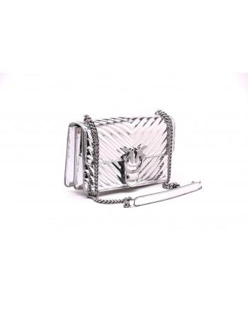 PINKO - Borsa LOVE QUILTING specchio - Silver