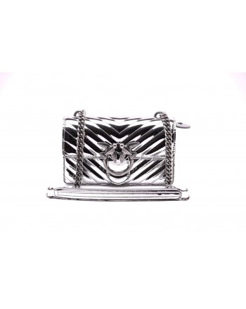 PINKO - MINI LOVE QUILTING bag - Silver