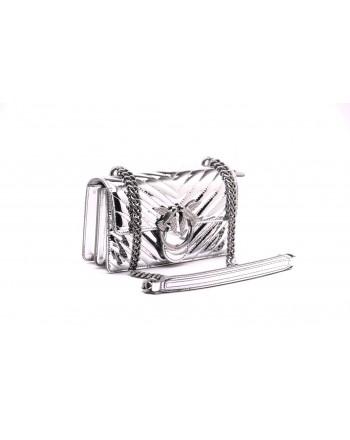 PINKO - Borsa MINI LOVE QUILTING - Silver