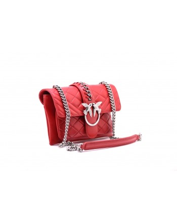 PINKO - MINI LOVE SOFT MIX CHAIN bag - Red