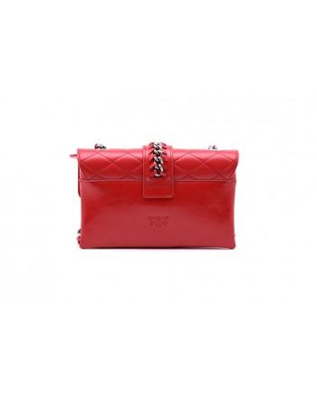 PINKO - MINI LOVE SOFT MIX CHAIN bag - Red