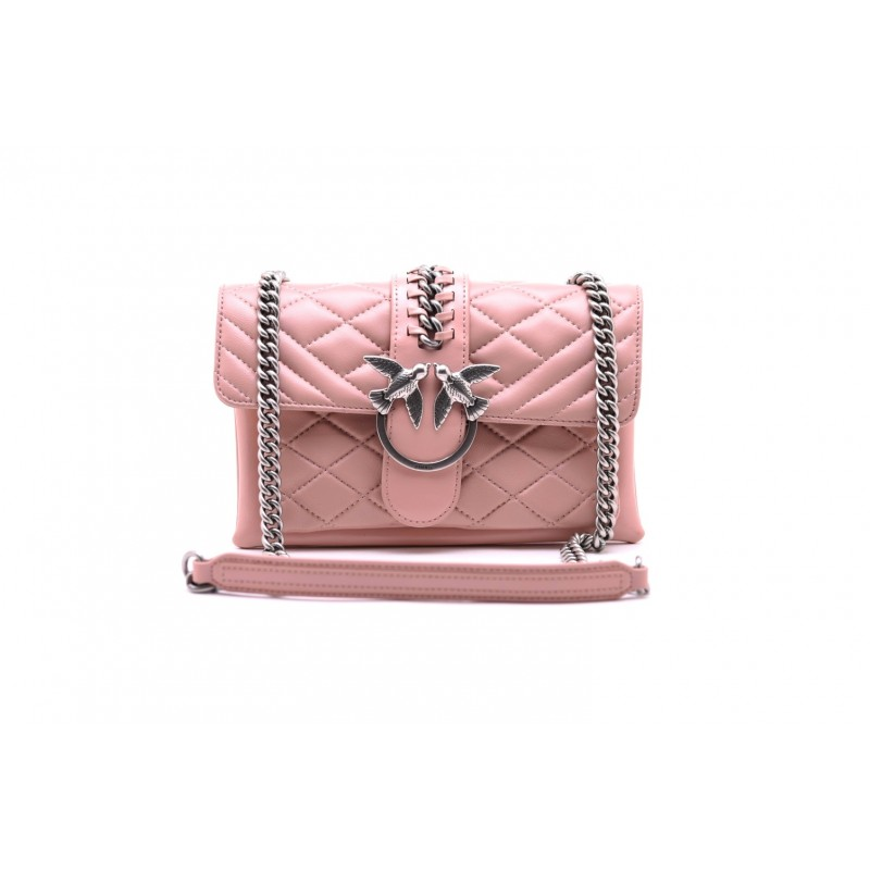 PINKO - BORSA MINI LOVE  SOFT MIX CATENA - Light Pink