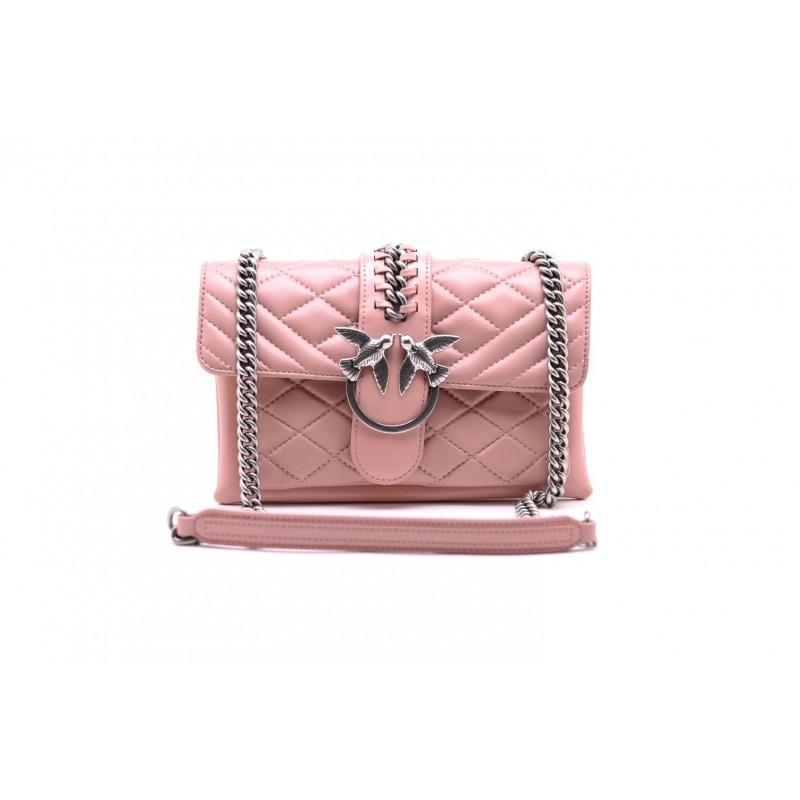 PINKO - MINI LOVE SOFT MIX CHAIN BAG Light Pink