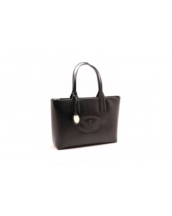 EMPORIO ARMANI - Shopper with charm and logo - Black
