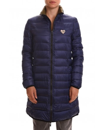 LOVE MOSCHINO - Reversible Nylon coat - Bluette