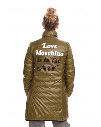 LOVE MOSCHINO - Cappotto REVERSIBILE in Nylon - Bluette