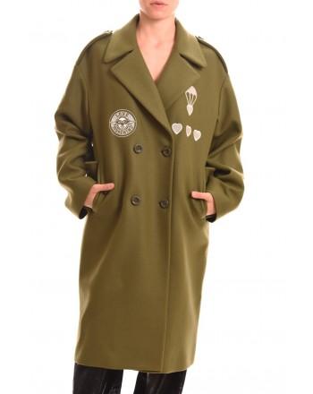 LOVE MOSCHINO - Cappotto doppio petto Military - Verde