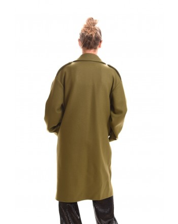 LOVE MOSCHINO - MILITARY double breasted coat - Green