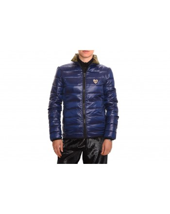 LOVE MOSCHINO - Reversable jacket in nylon - Bluette
