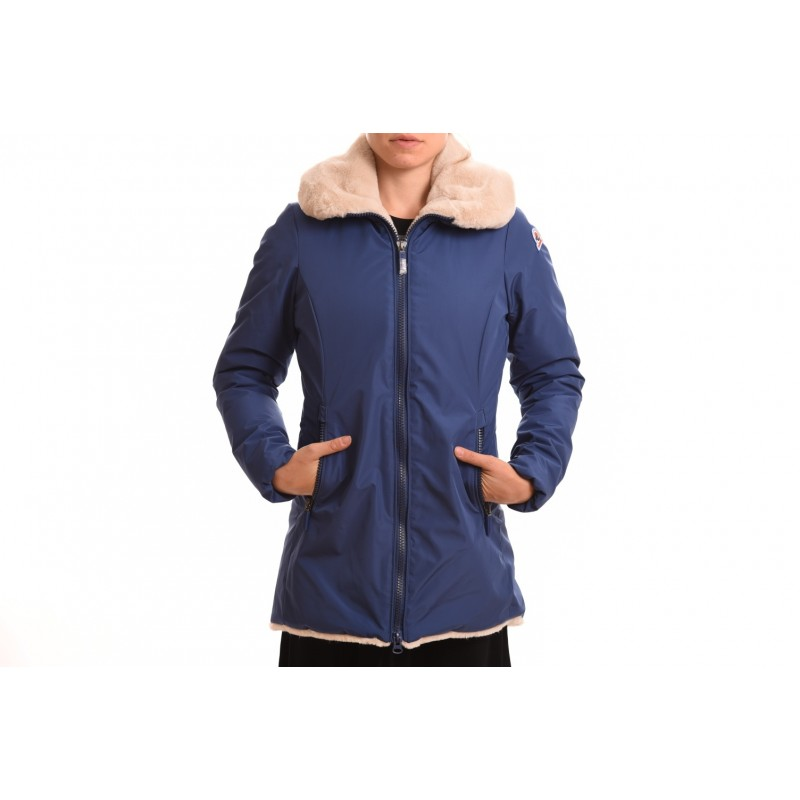 INVICTA - Giubbino donna con fodera in eco-pelliccia - Bluette