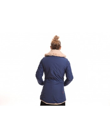 INVICTA - Woman jacket with eco-fur lining - Bluette