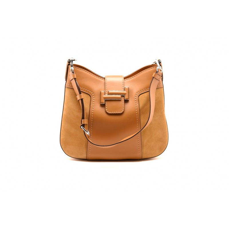 TOD'S - Leather Hobo Bag - Light Mustard