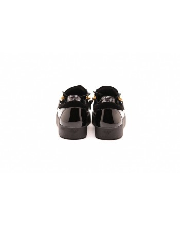 GIUSEPPE ZANOTTI - Sneakers in alligator print leather - Black