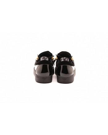 GIUSEPPE ZANOTTI - Sneakers in pelle stampa alligatore - Nero