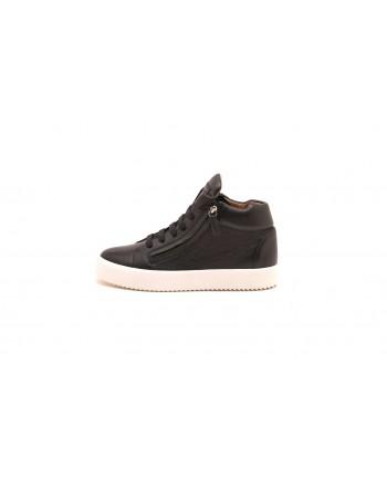 GIUSEPPE ZANOTTI - Sneakers Justy in pelle -  Nero