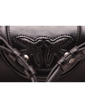 PINKO - LOVE NEW MONOGRAM bag in leather - Black