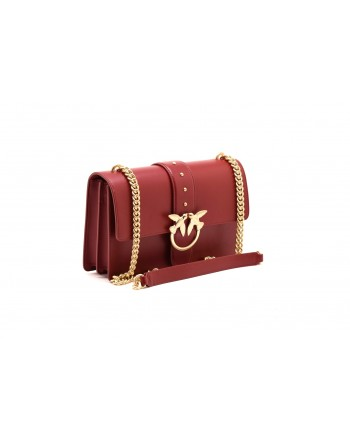 PINKO - LOVE bag SIMPLY in leather - Dark Red