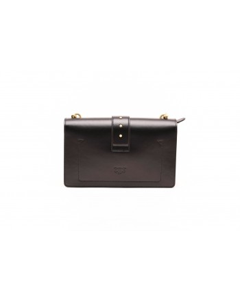 PINKO - LOVE bag SIMPLY in leather - Black
