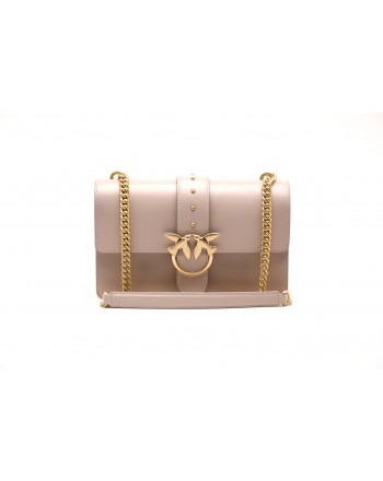 PINKO - Borsa LOVE SIMPLY in pelle - Beige