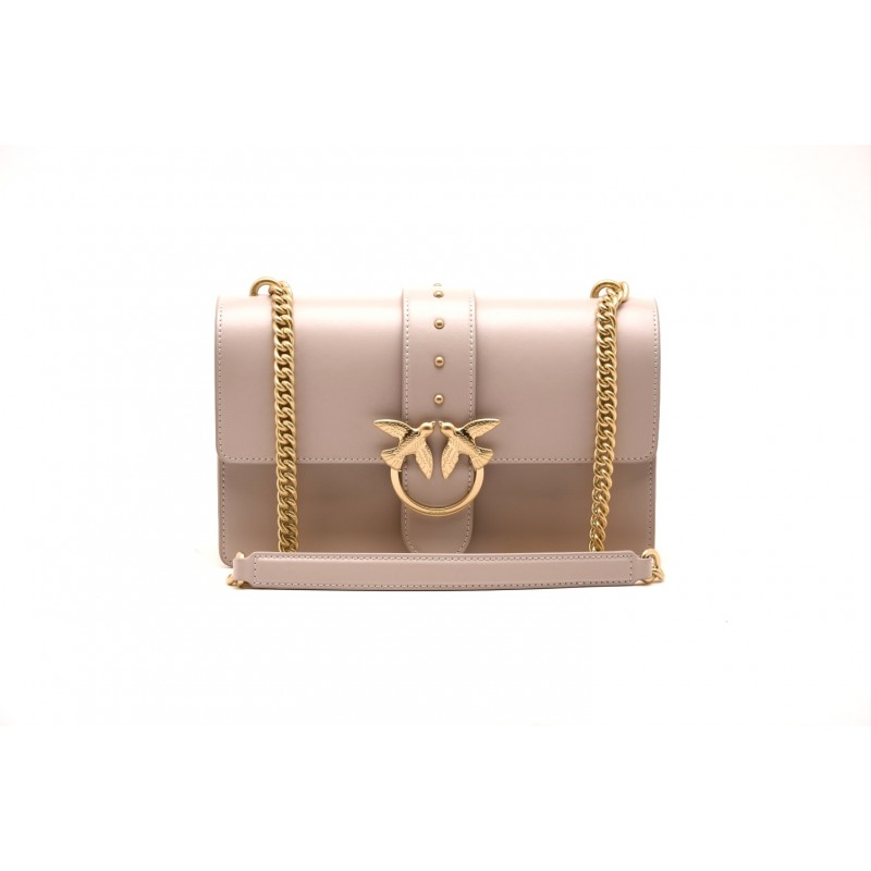 PINKO - LOVE bag SIMPLY in leather - Beige