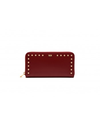 PINKO - AUSTIN leather wallet - Dark Red