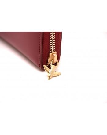 PINKO - AUSTIN leather wallet - Dark Red