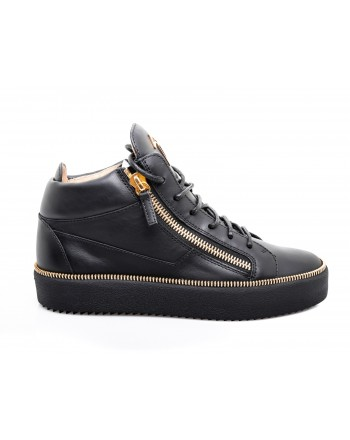 GIUSEPPE ZANOTTI - Leather sneaker - Black