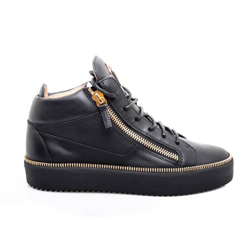 Sneaker Pelle In Nero Zanotti Giuseppe SGMqzVpU