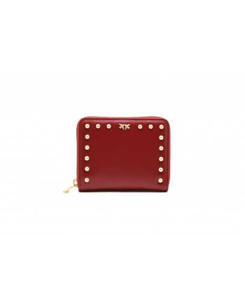 PINKO - DETROIT leather wallet - Dark Red