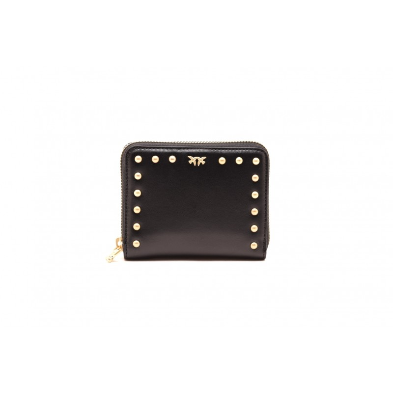 PINKO - DETROIT LEATHER WALLET - Black
