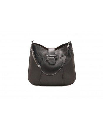 TOD'S - Leather Medium Hobo Bag - Black