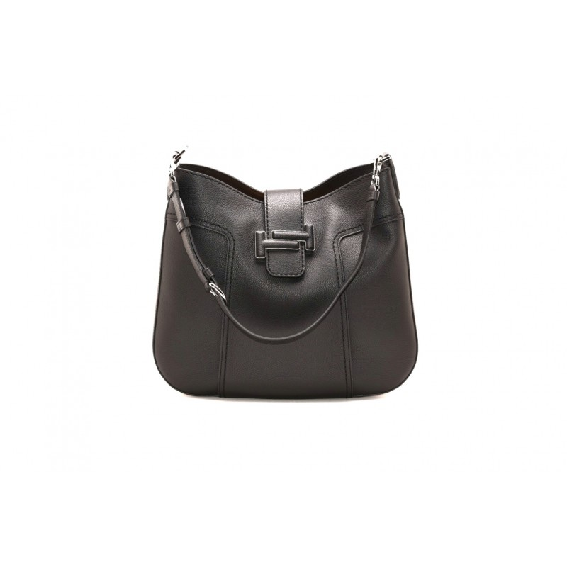 TOD'S - Borsa HOBO Media in Pelle - Nero