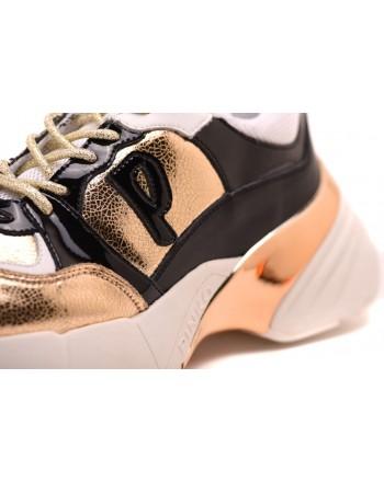 PINKO - Sneakers Shoes to Rock Craquelè polyshed - Gold/Black
