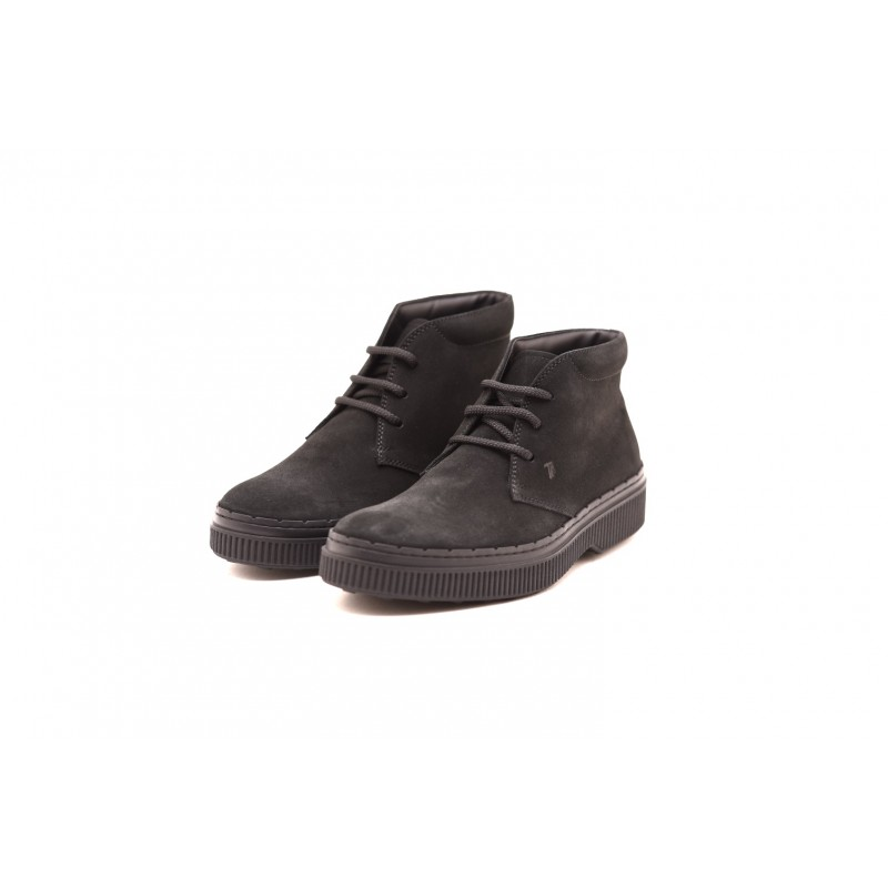 TOD'S - Suede boots - Black